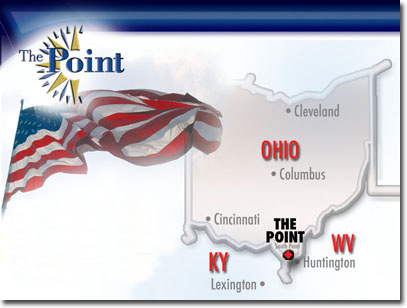 Map showing The Point in relation to Ohio